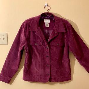 🌟2xHP🌟NWOT LL Bean Plum Brushed Velvet Jacket